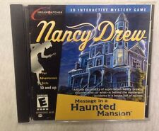 Nancy Drew Message In A Haunted Mansion PC MAC CD Mystery Game HeR Interactive