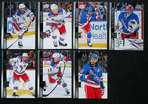 2020-21 Upper Deck UD New York Rangers Series 1 Base Team Set of 7 Hockey Cards