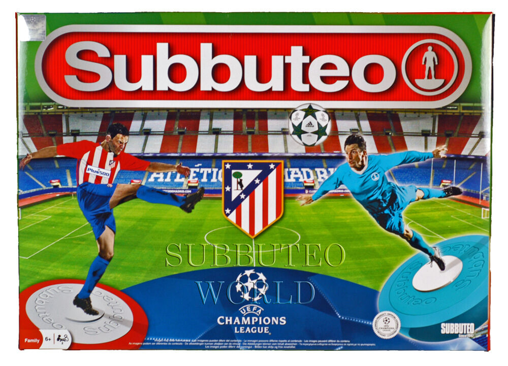 Offiziell 2017 Atletico Madrid Subbuteo Box Set Paul Lamond Tablet Fußball