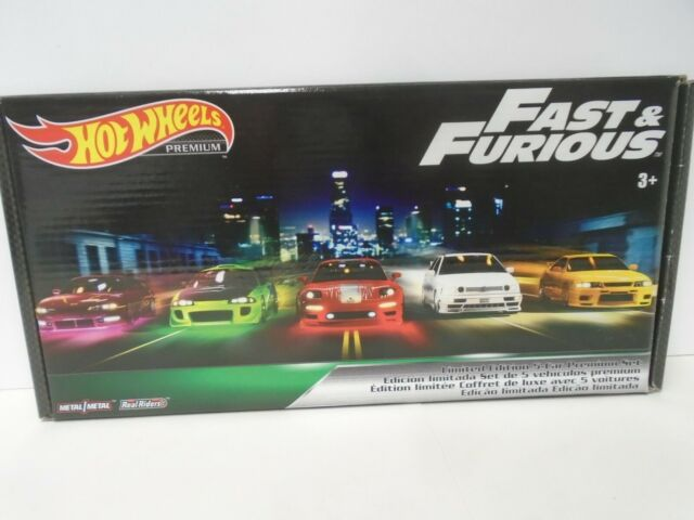 2019 Hot Wheels Premium Fast & Furious Original Fast B Case BOX SET of 5 Cars