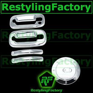 Chevy-Silverado-Triple-Chrome-Plated-2-Door-Handle-W-O-PSG-Keyhole-Gas-Cover