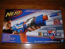 NEW Rare Nerf Elite Blue Alpha Trooper CS-12 Blaster Gun NIB HTF
