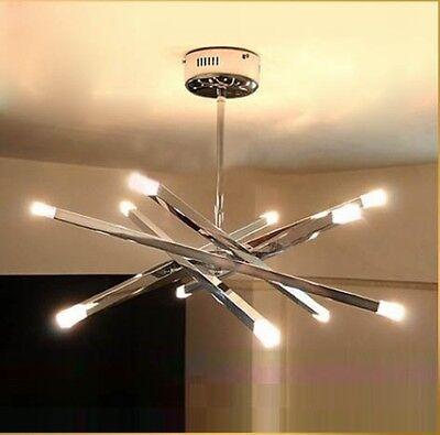 12 Lights New Modern Crystal Ceiling Light Restaurant Bedroom Lobby Pendant Lamp