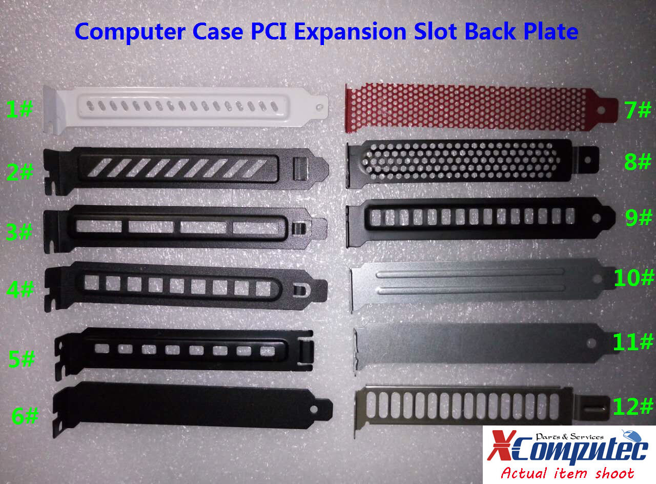 3pcs pc case pci expansion slot back plate cover dust