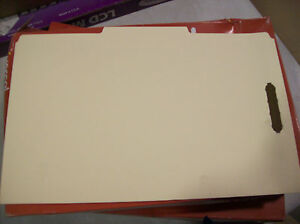 50//Box Universal 13120 End Tab Folders Manila Two Fasteners Letter
