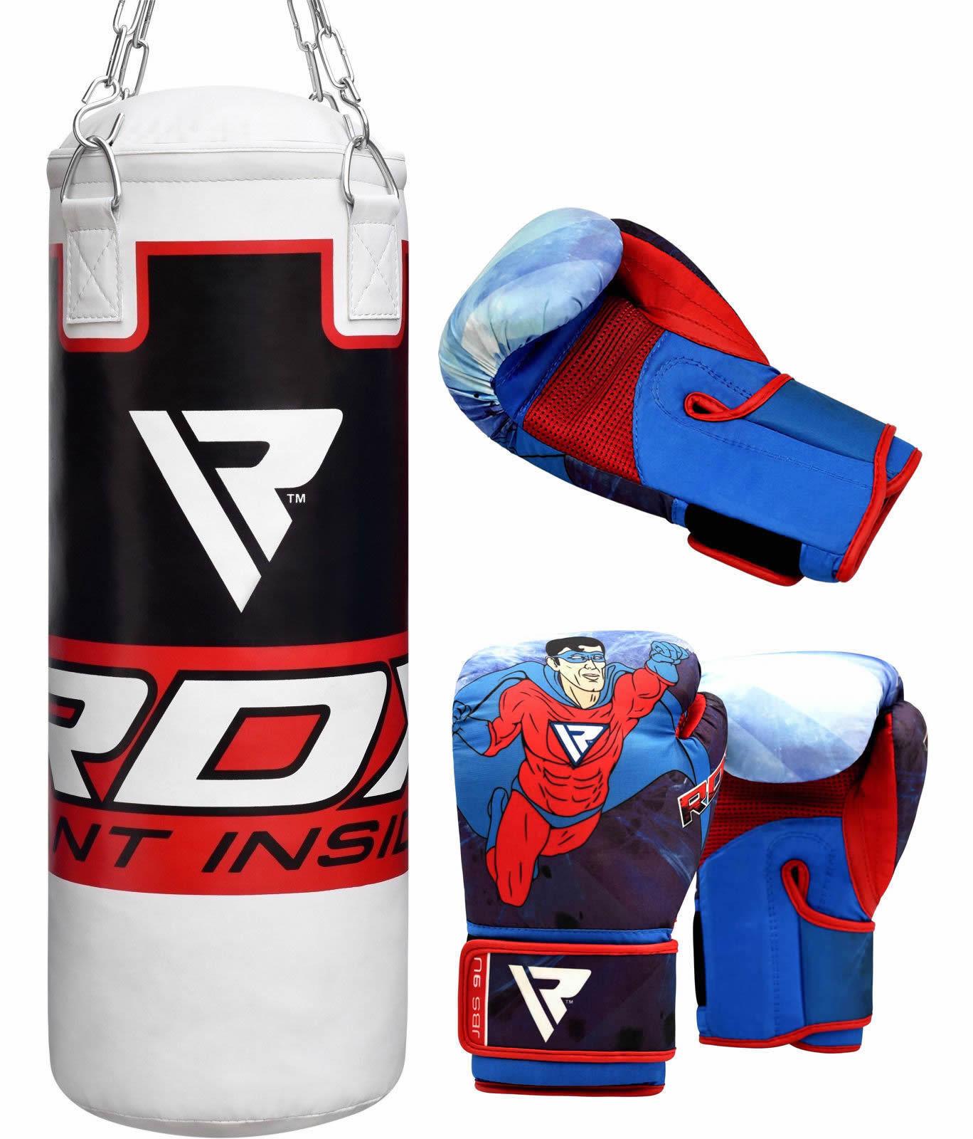 RDX Kinder Boxsack Gefüllt Boxset Sandsack Boxhandschuhe Kickboxen Training DE