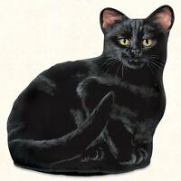 Black Cat Shaped Doorstop Or Pillow