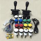 Arcade DIY Kit For 2 Players: PC PS3 2 IN 1 USB encoder, HAPP joysticks, buttons