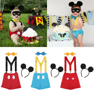 Image Is Loading 4PCS Baby Boys Mickey Mouse First Birthday Cake