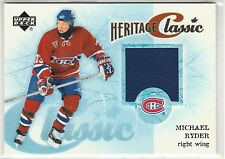2004-05 Upper Deck Heritage Classic #CCRY Michael Ryder jersey Montreal Canadien