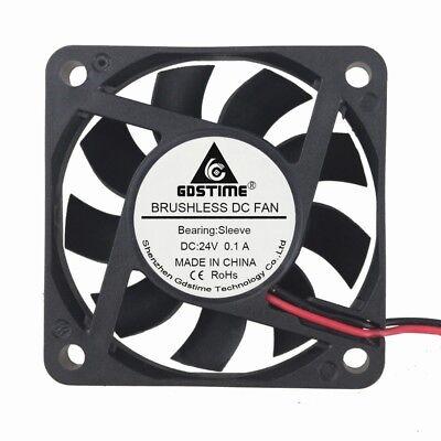 60mm 6CM x 15mm 6015s DC Brushless Ventilation Cooler Fan 24V 2Pin 2.5