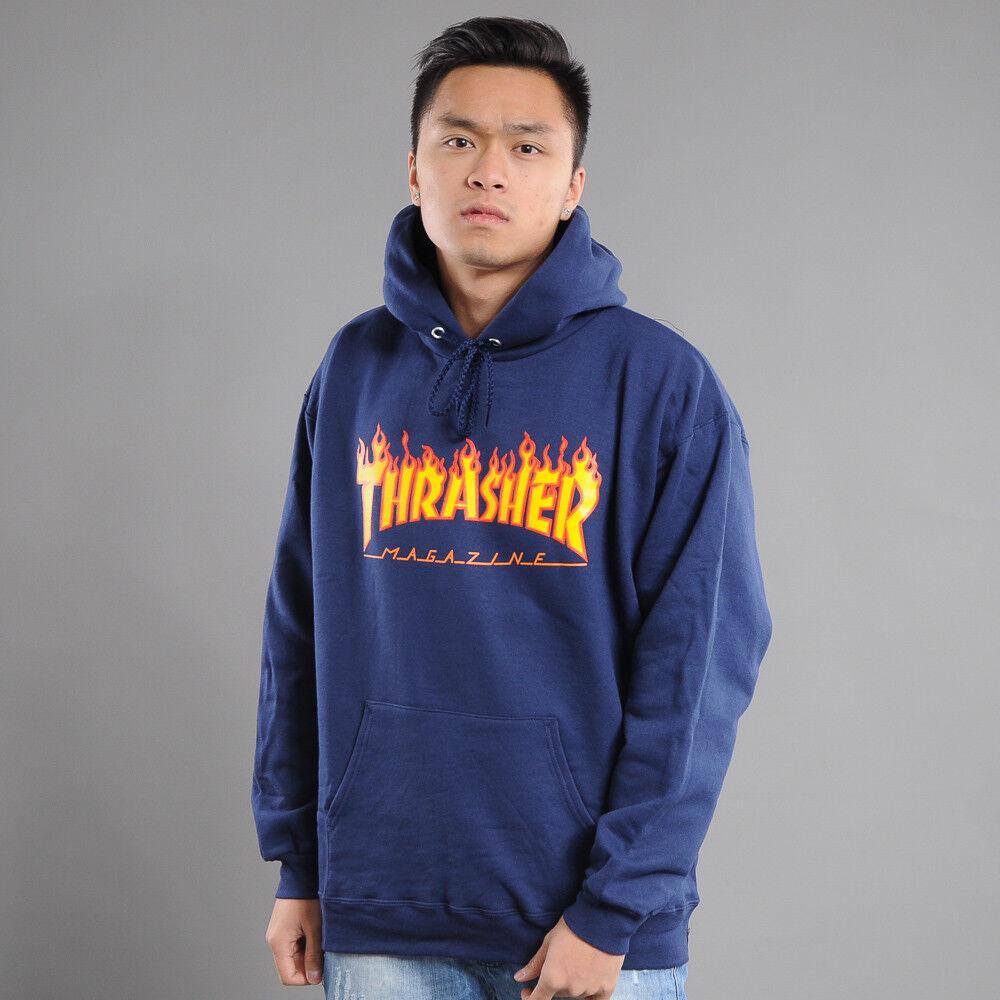 Thrasher Flame Logo Hoody Marine XL, Marine