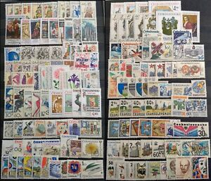 Worldwide Stamp Lots: Czechoslovakia MNH - 150 Different in Full Sets & Singles