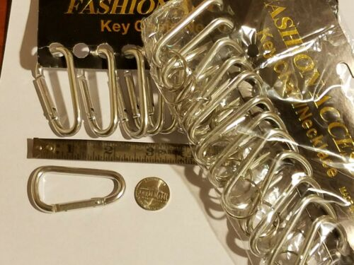 "2 1//8/"" Spring Belt Clip Key 6 Carabiners Aluminum Silver Color."