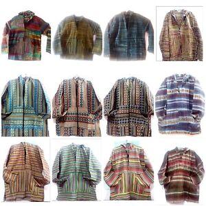Zipper Warm 10pc Hoodie Drug Lot Jacket Fleece Hippie Indian Baja Rug Bx8fvdw