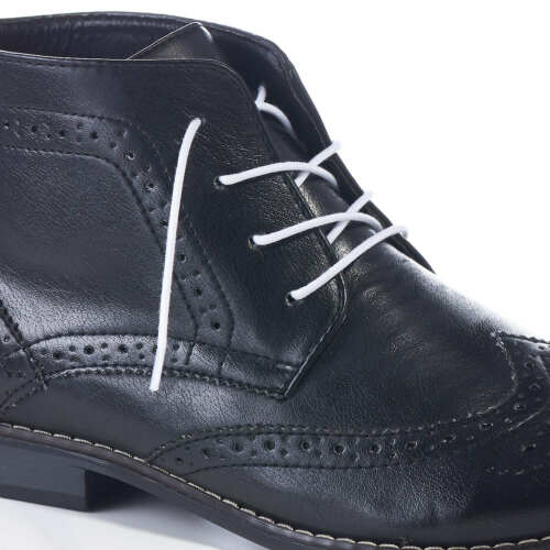 THIN ROUND WAXED COTTON CORD SHOE LACES PREMIUM QUALITY FOR BROGUE FORMAL BOOTS