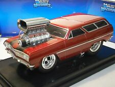 Muscle Machines Die Cast 1:18 1965 Chevelle Chevrolet Wagon GM Diecast In Box