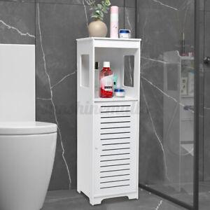 Meuble WC Colonne Salle de Bain 28x25x89cm Armoire Porte de Rangement Toilette