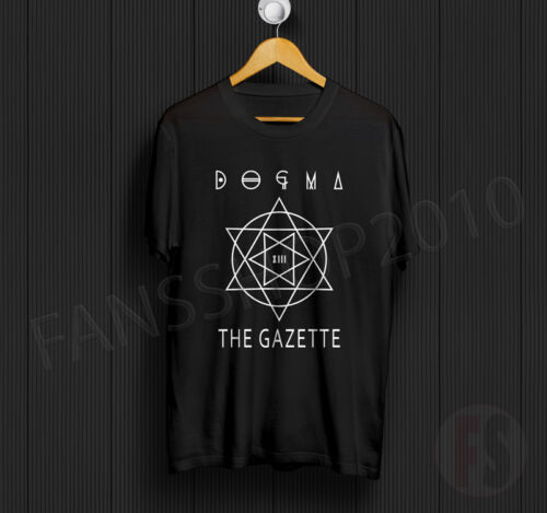 DOGMA THE GAZETTE Incubus Ruki Uruha Aoi Reita Kai BLACK TShirt Size S to XL