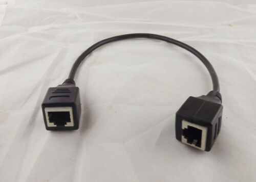 10x RJ45 Ethernet LAN Network Connector Female Jack To Female Adapter Cable 1ft