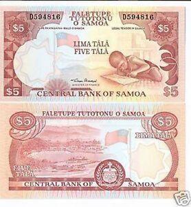 Samoa-5-Tala-2002-Pick-33a-FDS-UNC-lotto-2391