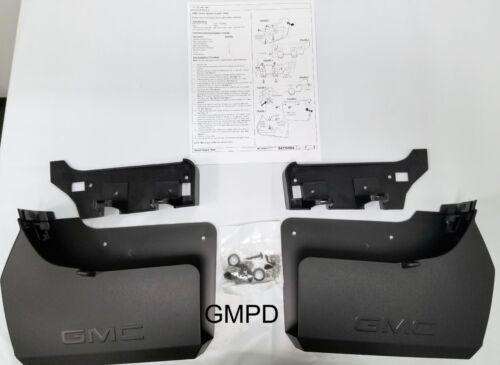 2019 New Generation GMC Sierra GM Rear Black Molded Splash Guards 84420656 OEM