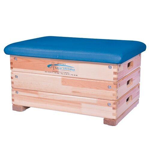 Grevinga® SCHOOL Sprungkasten 3-teilig TurnenKunstleder BLAU 128043