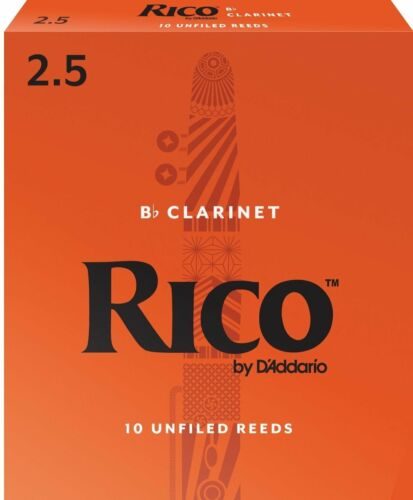 Rico by D/'addario Bb Clarinet Reeds 10 Pack Strength  2.5 RCA1025