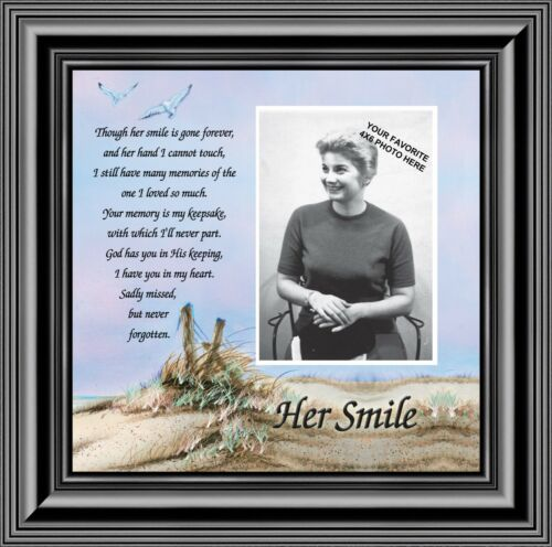 In Memory Sympathy Gifts 10x10 6756B Remembrance of Mother Her Smile