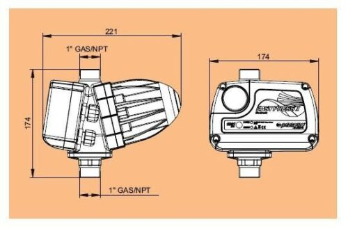 Presscontrol easy PRESS ii Pedrollo Gouverneur Druck elektronisch Pumpe 2 hp