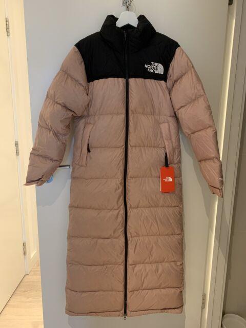 North Face Long Puffer Coat Womens Ladies Jacket Black Ebay