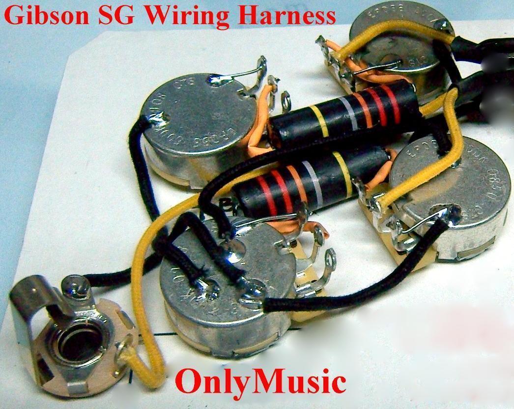 Kompatibel Gibson Sg Hummel Repro Klassischer Kabelbaum