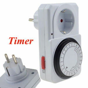 Details about Timer Switch Programmed Time Control European Plug 230V 16A  free shipping
