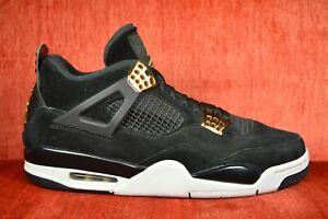 3fd77284693 CLEAN Nike Air Jordan 4 Retro Royalty Black Metallic Gold 308497-032 ...