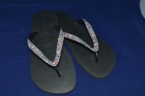 0309554988f Image is loading Havaianas-Bling-Diamond-wedding-flip-flops-made-with-