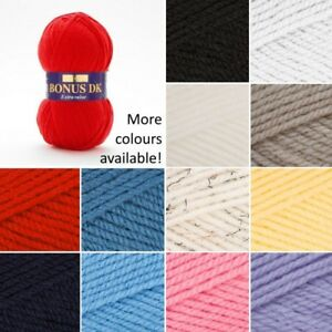Sirdar-100g-Hayfield-Bonus-Extra-Value-DK-Double-Knit-Knitting-Yarn-Ball