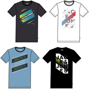 JACK /& JONES PREMIUM T-shirt homme logo imprimé sur la poitrine à encolure ras-du-cou à manches courtes Tee