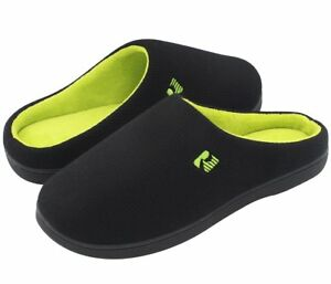 RockDove TwoTone Memory Foam Warm House Slippers Winter Mens Indoor Shoes 13-14