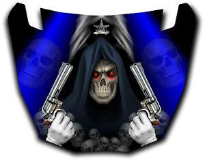 Details about Yamaha Viking UTV Graphics Hood Decal 2014 Grim Reaper  Revenge Blue