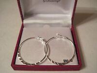 Danecraft Silver 100 Diamond-cut Hoop Pierced Earrings, Gift Box, Free S&h, $80