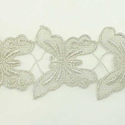 Metallic Venise Trim Lace 127- Thread Embroidery Crafts Sewing Applique Motif