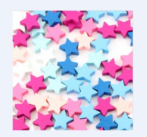 50 St madera estrella estrellas dekotischdeko bricolaje cadena para chupete mesa-DEKO bautizo