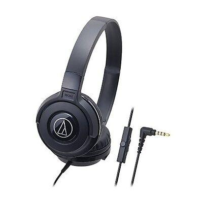 Audio Technica☆Japan-ATH-S100iS Portable Headphones For smartphone Black