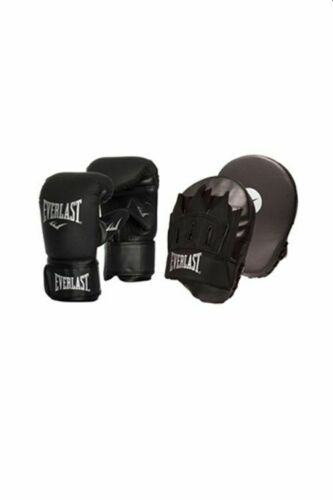 EVERLAST TEMPO GLOVE AND MITT COMBO SET Boxing Box Gym Training Black Pink Red