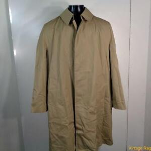 MISTY-HARBOR-Vtg-Long-RAINCOAT-Rain-Trench-Coat-Mens-Size-M-40-khaki