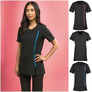 Spa beauty stretch tunic salon beautician massage for Uniform beauty spa