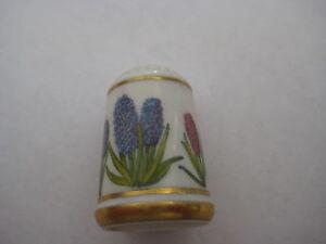Ronald Van Ruyckevelt Franklin Porselein 1978 Vintage Flower Hyacinth China thimble