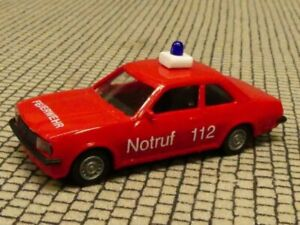 Opel Ascona OPEL Werkfeuerwehr Bochum EUROMODELL 1:87 Neuf dans sa boîte ST