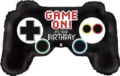 Computer Video Game Controller Foil Balloons PartyWare Decoration PS4 Helium