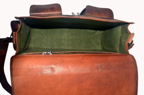 Leather Bag Vintage Brown Leather Messenger Bag Shoulder Laptop Bag Briefcase